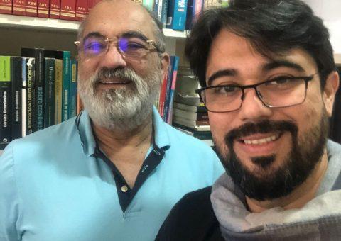 O médico Luiz Guilherme passa férias em São Paulo e celebra o seu aniversário em família