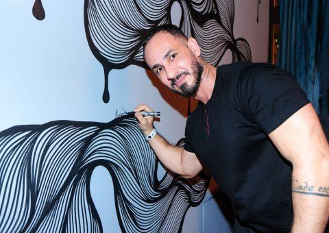 A obra de Markos Dias, artista do Casting Dila Oliveira Galeria, pode ser vista no Frê Resto, em São Paulo